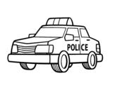 Desenho de Um carro de polícia para colorear