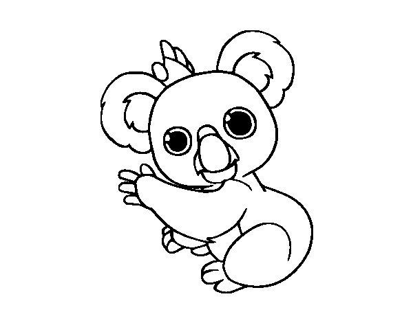 Desenho de Um coala para Colorir