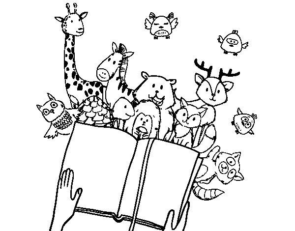 Desenho de Um conto de animais para Colorir
