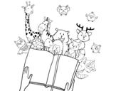 Desenho de Um conto de animais para colorear