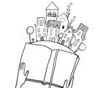 Dibujo de Um conto na cidade
