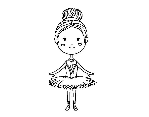 Desenho de Um dançarino de bailado para Colorir