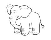 Desenho de Um elefante Africano para colorear