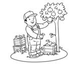 Dibujo de Um fazendeiro