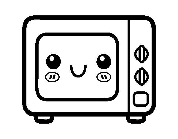 Desenho de Um forno micro-ondas para Colorir