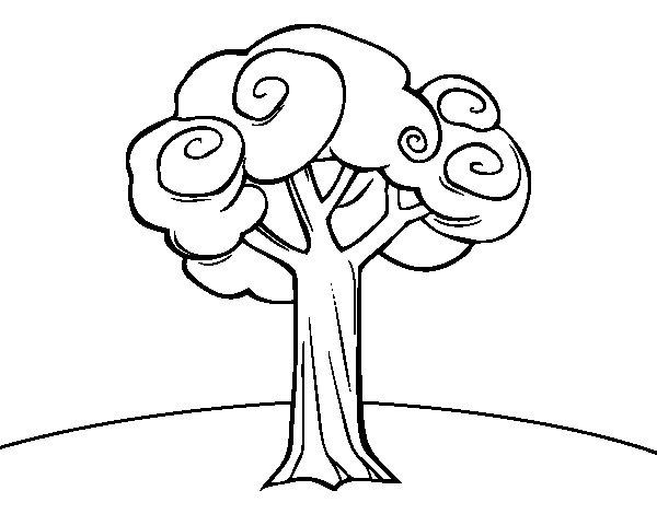 Desenho de Um grande árvore para Colorir