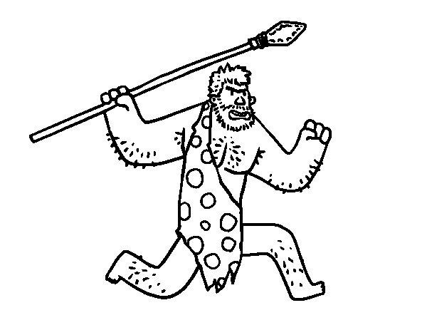 Desenho de Um homem das cavernas para Colorir