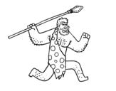 Desenho de Um homem das cavernas para colorear