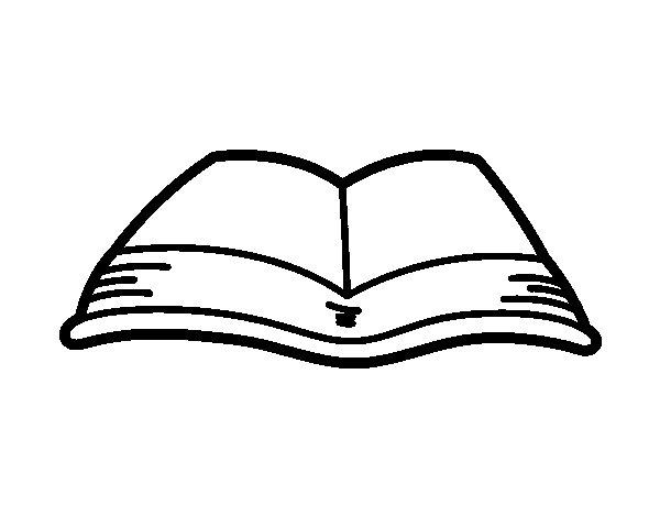 Desenho de Um livro aberto para Colorir