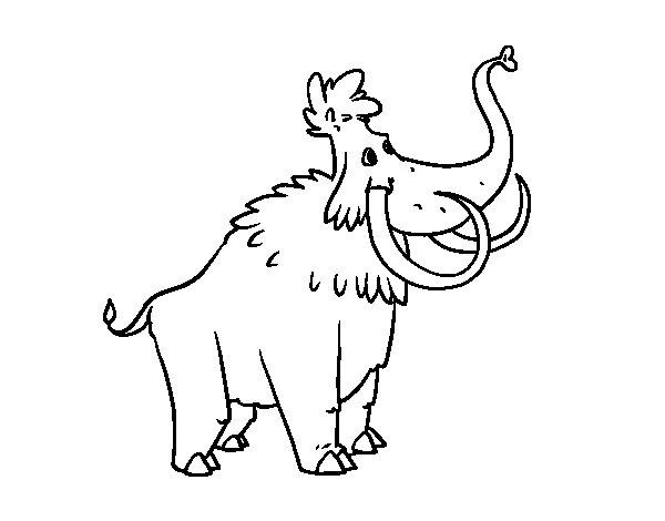 Desenho de Um Mamute para Colorir