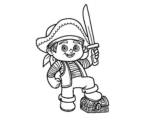 Desenho de Um menino do pirata para Colorir