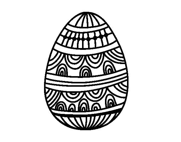 Desenho de Um ovo da páscoa decorado para Colorir