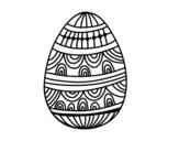 Desenho de Um ovo da páscoa decorado para colorear