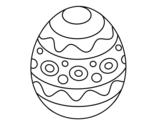 Desenho de Um ovo de páscoa estampado para colorear
