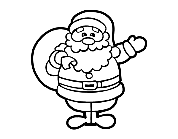 Desenho De Um Papai Noel Para Colorir