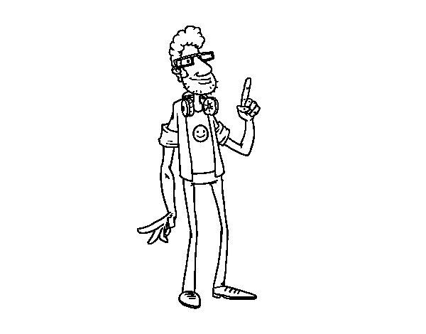 Desenho de Um programador para Colorir