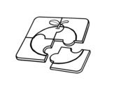 Desenho de Um quebra-cabeça para colorear
