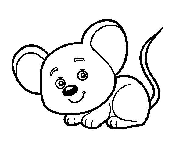 Desenho de Um ratinho para Colorir