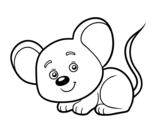 Desenho de Um ratinho para colorear