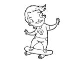 Desenho de Um skater para colorear
