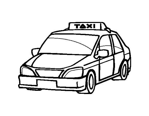 Desenho de Um táxi para Colorir
