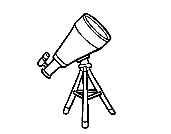 Desenho de Um telescópio para Colorir