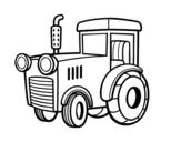 Desenho de Um trator para colorear