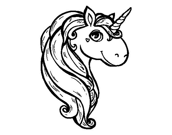 Desenho De Um Unicórnio Para Colorir