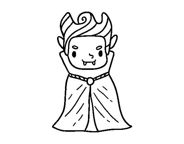 Desenho de Um vampiro pequeno para Colorir
