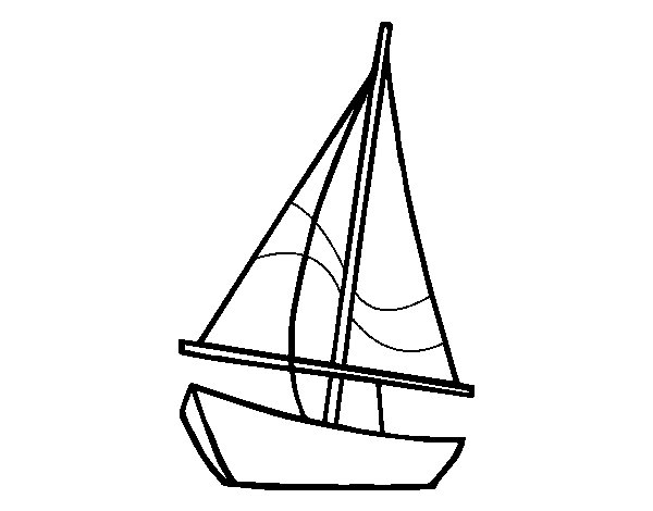 Desenho de Um veleiro para Colorir