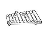 Dibujo de Um xilofone
