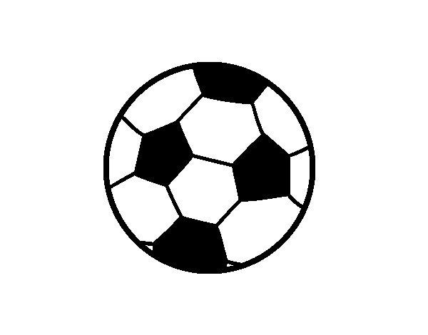 Desenho de Uma bola de futebol para Colorir