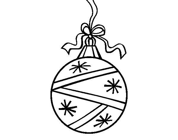Desenho de  Uma bola de Natal para Colorir
