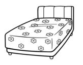 Desenho de Uma cama para colorear