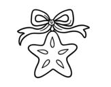 Desenho de Uma estrela natalícia para colorear