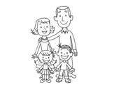 Desenho de Uma família para colorear