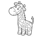 Dibujo de Uma girafa