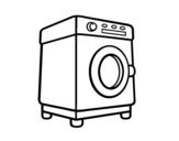 Desenho de Uma lavadora para colorear