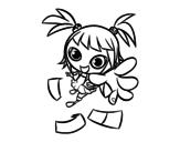 Desenho de Uma menina manga para colorear