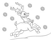 Desenho de Uma rena do Natal para colorear
