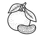 Desenho de Uma tangerina para colorear
