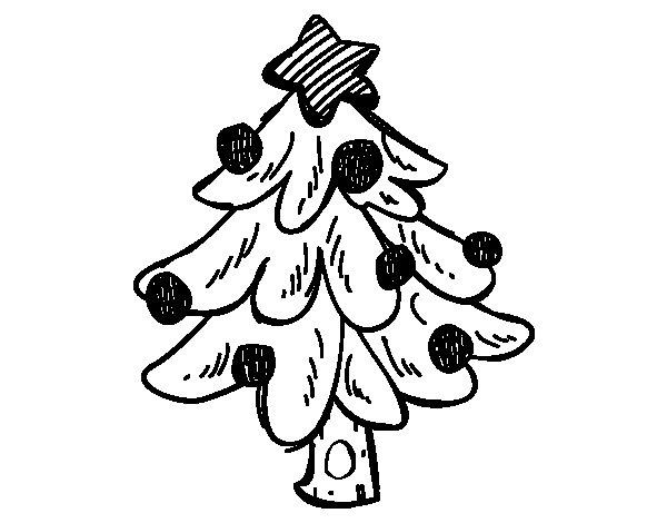 Desenho de Un árvore de Natal para Colorir