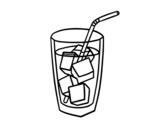Desenho de Un copo de refrigerante para colorear