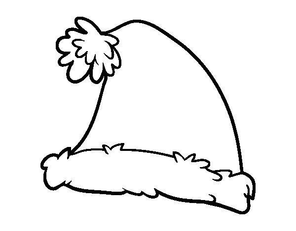 Desenho de Un gorro de Santa Claus para Colorir