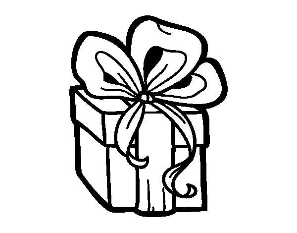 Desenho de Un presente de Natal para Colorir