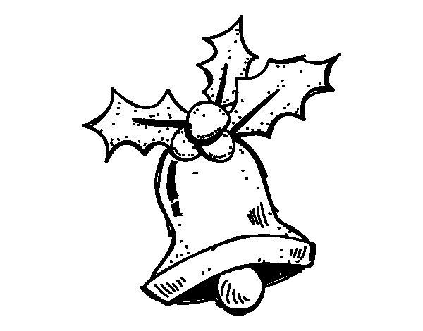 Desenho de Un sino de Natal para Colorir