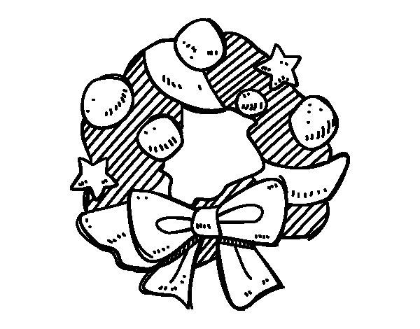 Desenho de Una coroa do Advento para Colorir