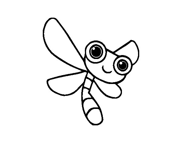 Desenho de Una libélula para Colorir