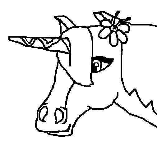Desenho de Unicórnio II para Colorir