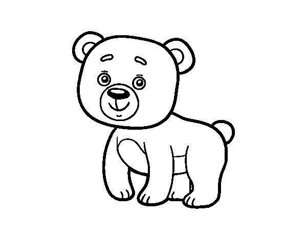 Desenho de Ursito de bosque para Colorir